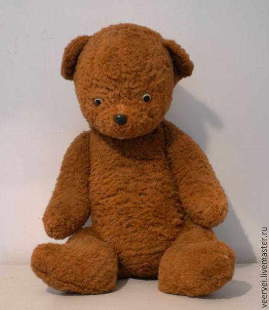 Винтажные куклы и игрушки. Ярмарка Мастеров - ручная работа. Купить Антикварный медведь. Handmade. Коричневый, ретро мишка