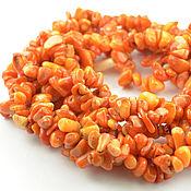Материалы для творчества ручной работы. Ярмарка Мастеров - ручная работа Коралл оранжевый, каменная крошка (140 см). Handmade.