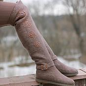 """Обувь ручной работы. Ярмарка Мастеров - ручная работа Валенки-ботфорты """"Гранит"""". Handmade."""