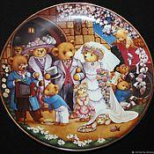 Винтаж handmade. Livemaster - original item Collectible plates