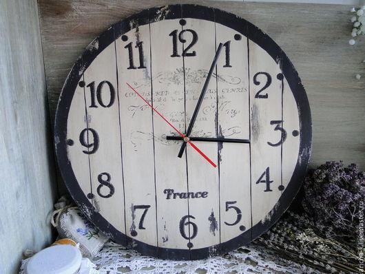 Часы для дома ручной работы. Ярмарка Мастеров - ручная работа. Купить Часы из Прованса. Handmade. Бежевый, часы интерьерные, для дома