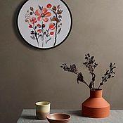 Картины и панно handmade. Livemaster - original item Pictures: Watercolor flowers Japanese quince. Handmade.