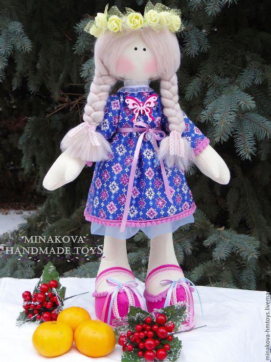 Куклы Тильды ручной работы. Ярмарка Мастеров - ручная работа. Купить Интерьерная кукла ручной работы. Handmade. Синий, кукла