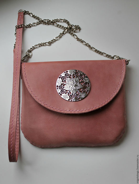 Женские сумки ручной работы. Ярмарка Мастеров - ручная работа. Купить розовая сумочка натуральная кожа женская сумка. Handmade.