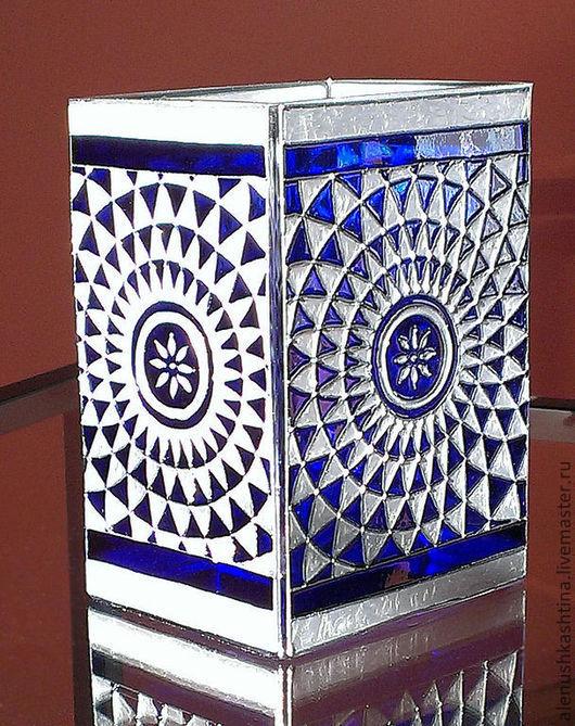 """Вазы ручной работы. Ярмарка Мастеров - ручная работа. Купить Ваза """"Синяя мозаика"""". Handmade. Тёмно-синий, мозаика, Витраж"""