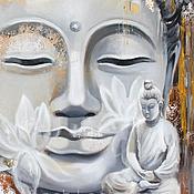 Картины и панно handmade. Livemaster - original item Silver Buddha. Handmade.