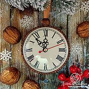 """Елочные игрушки ручной работы. Ярмарка Мастеров - ручная работа Новогодний шар-медальон """"Волшебные Часы"""". Handmade."""