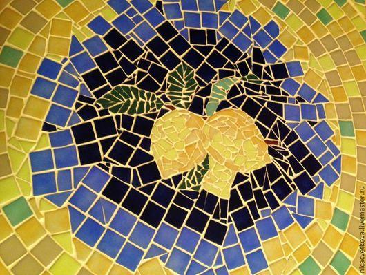 """Мебель ручной работы. Ярмарка Мастеров - ручная работа. Купить Мозаика, Стол обеденный """" Лимонная рапсодия"""". Handmade. Лимонный"""