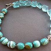 Украшения handmade. Livemaster - original item Necklace AQUA ALLEGORY of Aqua quartz and agate. Handmade.