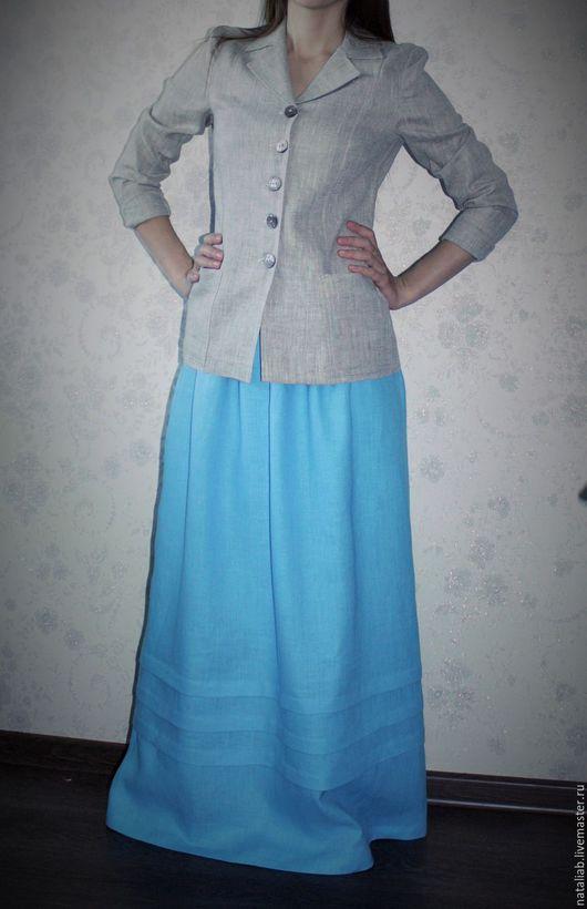 Пиджаки, жакеты ручной работы. Ярмарка Мастеров - ручная работа. Купить Льняной пиджак. Handmade. Серый, пиджак, стильный лен