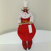 Куклы и игрушки ручной работы. Ярмарка Мастеров - ручная работа Кукла текстильная Тильда повар Джузеппе. Handmade.