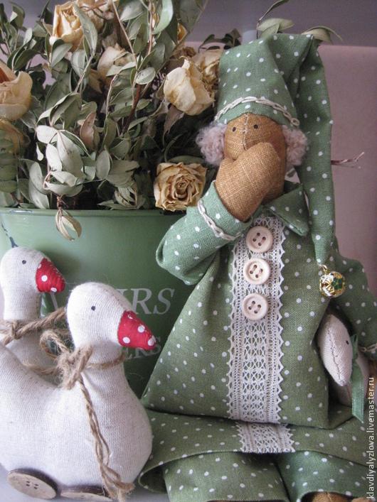 Куклы Тильды ручной работы. Ярмарка Мастеров - ручная работа. Купить Тильда Сплюшка. Handmade. Зеленый, сплюшка, тильда-ангел
