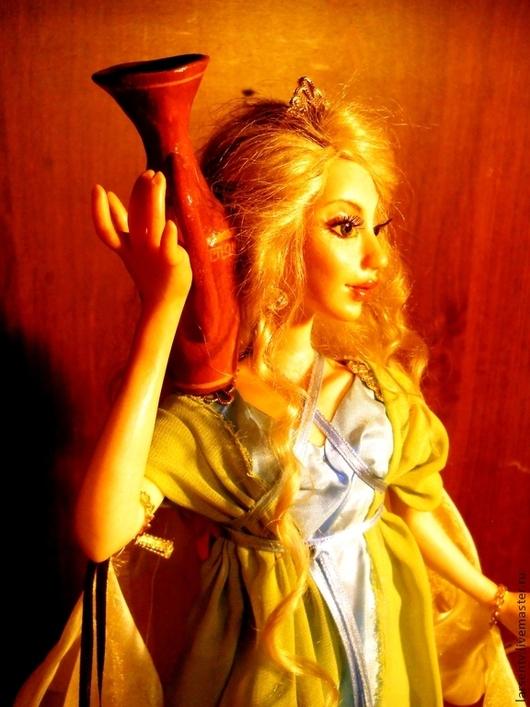 Коллекционные куклы ручной работы. Ярмарка Мастеров - ручная работа. Купить Авторская кукла Греческая нимфа. Handmade. Голубой, органза