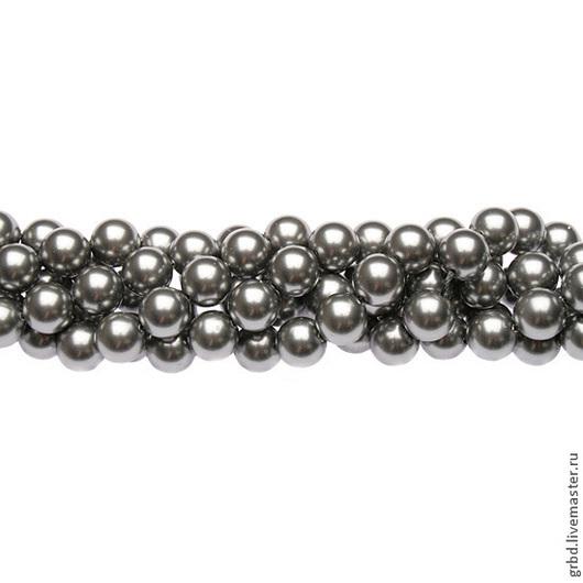 Для украшений ручной работы. Ярмарка Мастеров - ручная работа. Купить Жемчуг Сваровски 8 мм 5810 Grey (08-731). Handmade.