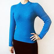 Одежда handmade. Livemaster - original item Women`s cardigan in cornflower blue.. Handmade.