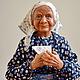 Коллекционные куклы ручной работы. Ярмарка Мастеров - ручная работа. Купить Интерьерная авторская кукла Ожидание. Handmade. Подарок, бабушка