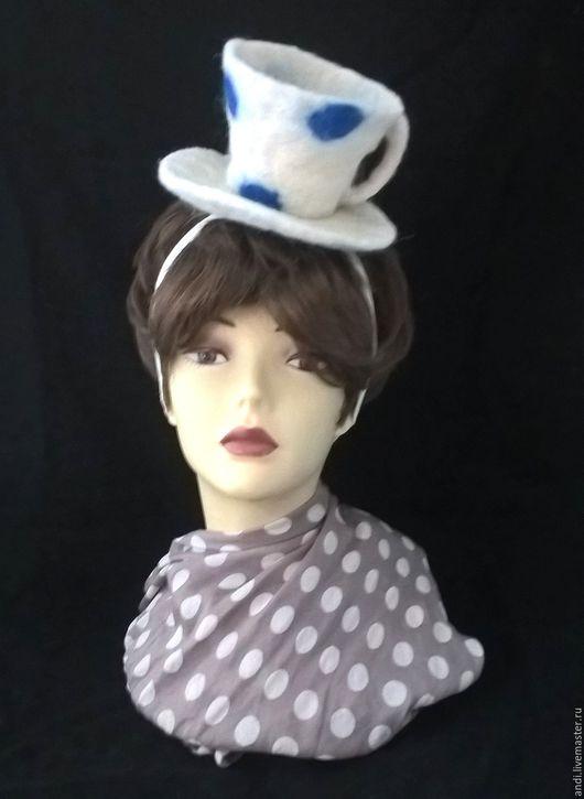 """Шляпы ручной работы. Ярмарка Мастеров - ручная работа. Купить Шляпка для фотосессий """"Чашка"""". Handmade. Белый, шляпка для фотосессии"""