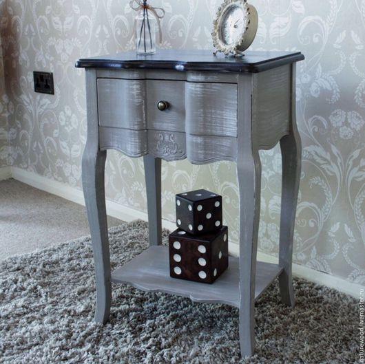 Мебель ручной работы. Ярмарка Мастеров - ручная работа. Купить Тумбочка grey. Handmade. Серый, мебель из массива, мебель для гостинной