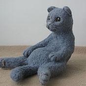 Куклы и игрушки ручной работы. Ярмарка Мастеров - ручная работа Вислоухий задумчивый кот. Handmade.