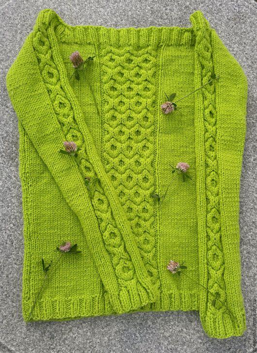 Кофты и свитера ручной работы. Ярмарка Мастеров - ручная работа. Купить Джемпер с открытыми плечами. Handmade. Салатовый, акрил