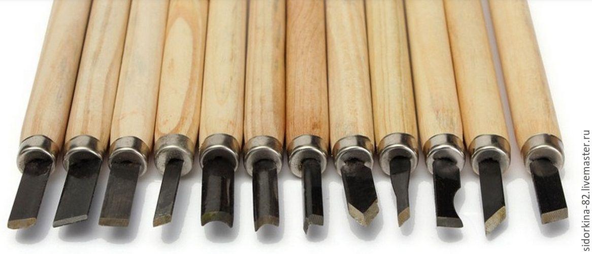 Купить Набор Стамесок (резцы) для резьбы по дереву 12 шт GD13