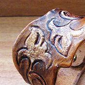 """Украшения ручной работы. Ярмарка Мастеров - ручная работа Кожаный браслет """"Узоры"""". Handmade."""
