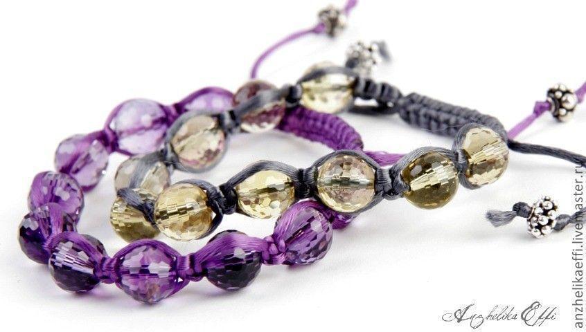 Серебряные браслеты с натуральными камнями купить