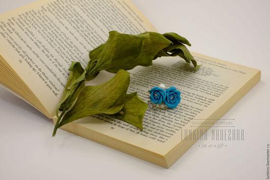 Кольца ручной работы. Ярмарка Мастеров - ручная работа. Купить Кольцо с синими розами. Handmade. Синий, розы ручной работы