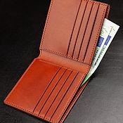 Сумки и аксессуары handmade. Livemaster - original item Brown wallet made of genuine Italian leather buttero. Handmade.