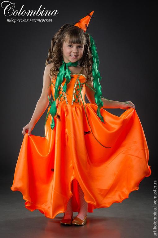 Детские карнавальные костюмы ручной работы. Ярмарка Мастеров - ручная работа. Купить костюм морковки. Handmade. Оранжевый