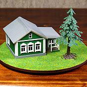 Сувениры и подарки handmade. Livemaster - original item The layout of the mini house with the landscape. Handmade.