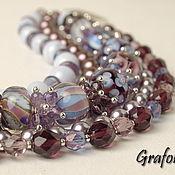 Украшения handmade. Livemaster - original item Bracelet with stones Calypso. Handmade.