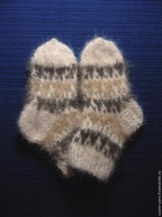 Носки, гольфы, гетры ручной работы. Ярмарка Мастеров - ручная работа. Купить Детские носочки из собачьей шерсти. Handmade.