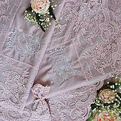 Свадебный салон ручной работы. Ярмарка Мастеров - ручная работа Подарок на свадьбу. Постельное белье из сатина с кружевом Марисабель. Handmade.