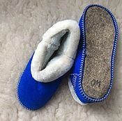 Обувь ручной работы handmade. Livemaster - original item Women`s sheepskin chuni, felt sole. Handmade.