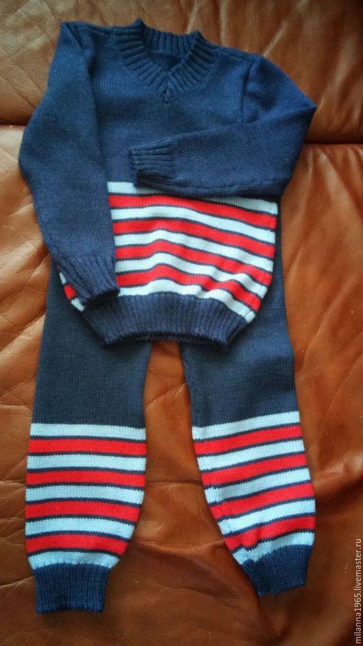Одежда для мальчиков, ручной работы. Ярмарка Мастеров - ручная работа. Купить Костюмчик для малыша. Handmade. Тёмно-синий, костюмчик детский