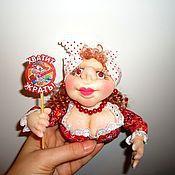 Куклы и игрушки ручной работы. Ярмарка Мастеров - ручная работа Куклы-магниты на холодильник. Handmade.