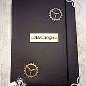Обложки ручной работы. Ярмарка Мастеров - ручная работа Обложка на паспорт мужская из эко-кожи (ручная работа). Handmade.