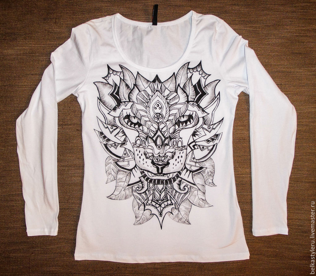 T-shirt design handmade - T Shirts Singlets Handmade Order T Shirt Hand Painted Lion Belkastyle