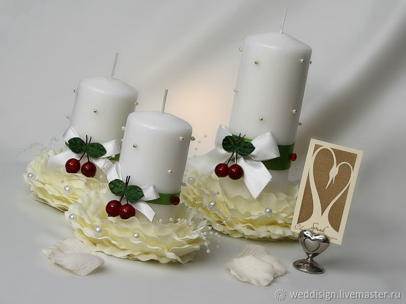 Wedding candles collection ' Cherries', Wedding Candles, Moscow,  Фото №1