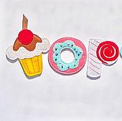 Для дома и интерьера ручной работы. Ярмарка Мастеров - ручная работа Сладости из фетра. Handmade.