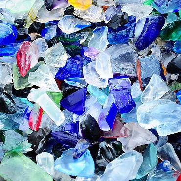 Materials for creativity handmade. Livemaster - original item Glass pebbles galtovannaya MI1 for decoration pebbles for aquarium. Handmade.