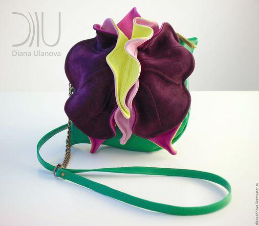 Женские сумки ручной работы. Ярмарка Мастеров - ручная работа. Купить мини Орхидея разные. Handmade. Комбинированный, натуральная кожа