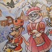 """Картины и панно ручной работы. Ярмарка Мастеров - ручная работа Картина """"Зимние барабанщики"""". Handmade."""
