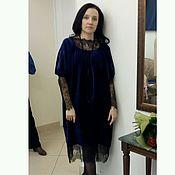 Одежда ручной работы. Ярмарка Мастеров - ручная работа Платье из бархата и кружева. Handmade.
