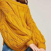 """Одежда ручной работы. Ярмарка Мастеров - ручная работа Свитер желтый """"Янтарь"""". Желтый свитер. Желтый свитер. Желтый свитер. Handmade."""