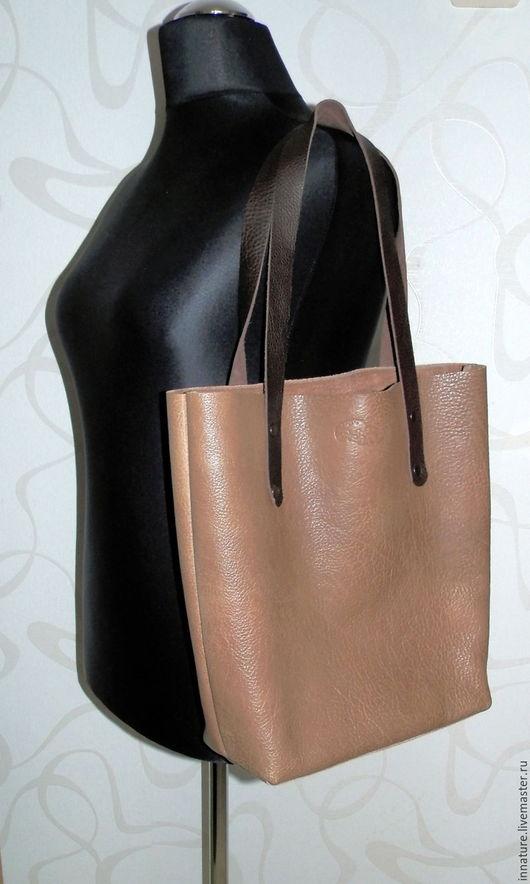 """Женские сумки ручной работы. Ярмарка Мастеров - ручная работа. Купить Сумка ,натуральная кожа, большая , шоппер """"Просто сумка"""". Handmade."""