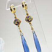 Украшения handmade. Livemaster - original item Earrings silver BLUE BIRD Enamel Gilt silver. Handmade.