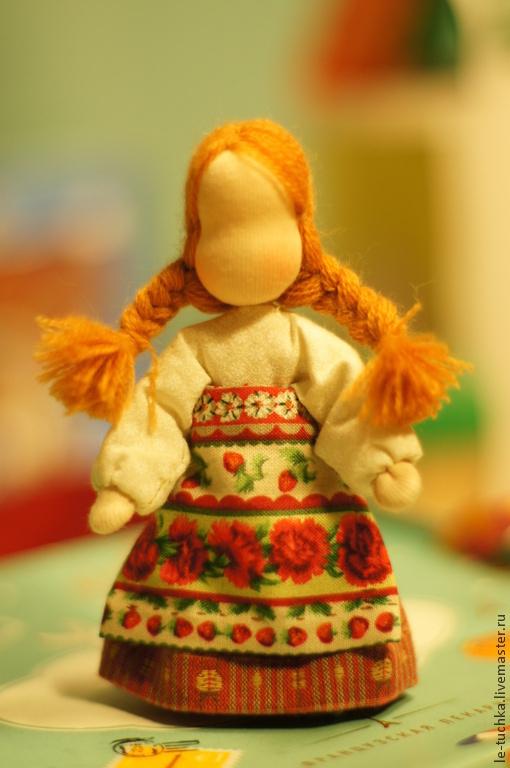 Народные куклы ручной работы. Ярмарка Мастеров - ручная работа. Купить Масленица. Handmade. Рыжий, девочка, блины, гарус