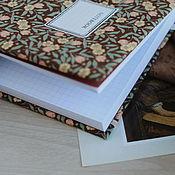 Notebooks handmade. Livemaster - original item Notepad with fabric cover / A5 / Sketchbook / Diary. Handmade.